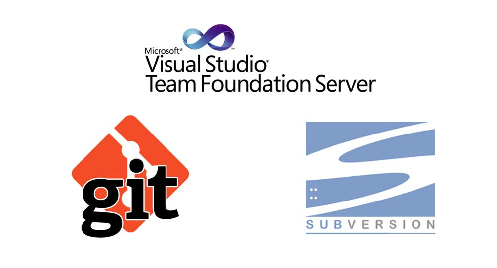 GIT, Team Foundation Server and Subversion logos